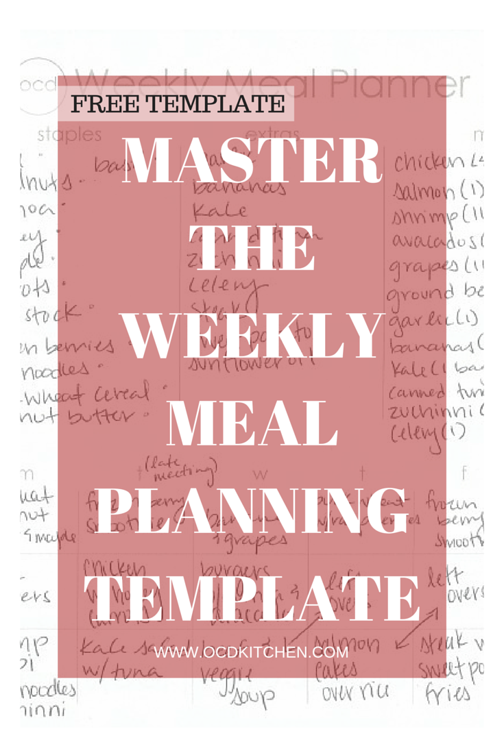 how to master the weekly meal plan ocd kitchen
