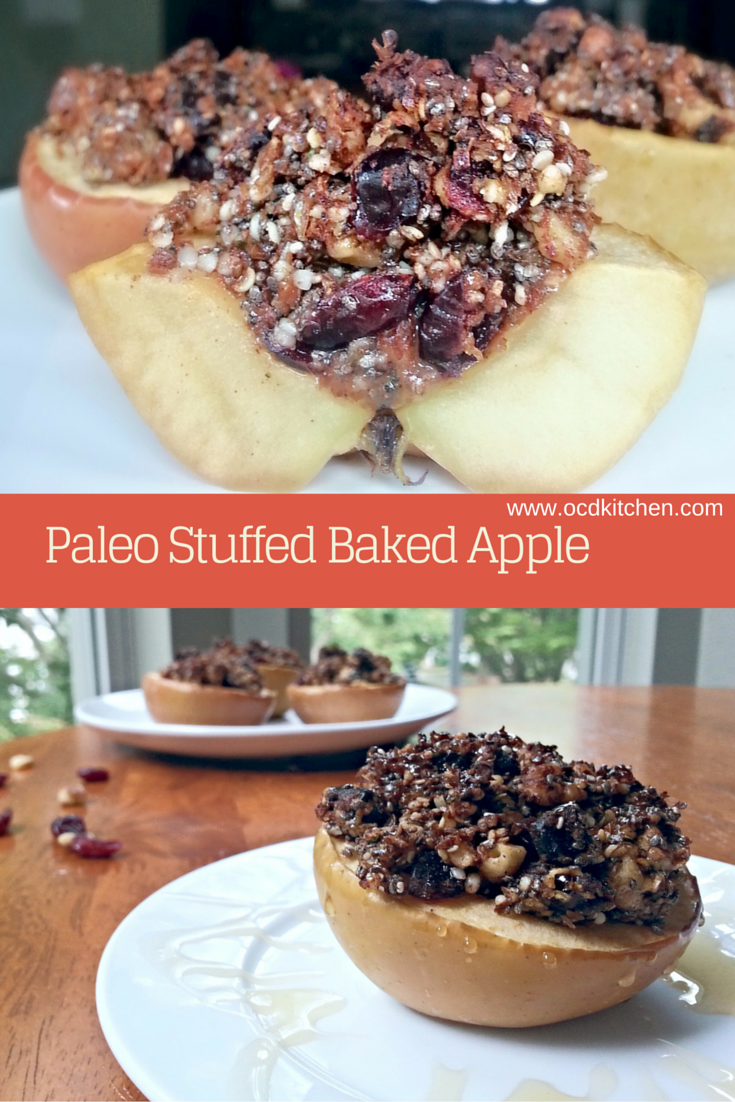 Paleo Stuffed Baked Apple