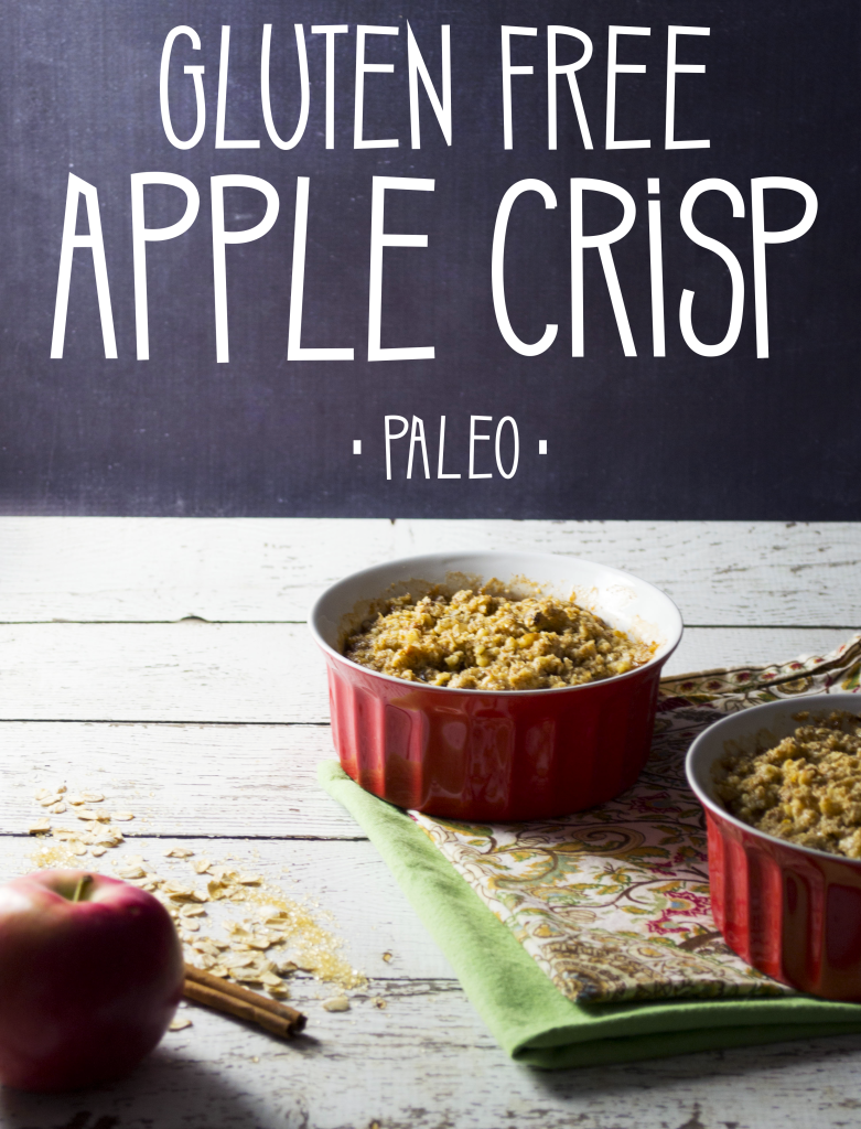 A gluten free apple crisp that's also paleo friendly. You won't be missing any grains here. - OCD Kitchen