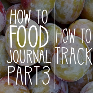 How to Food Journal Series – Part 3: How to Track (Plus a peek into my personal Journal)