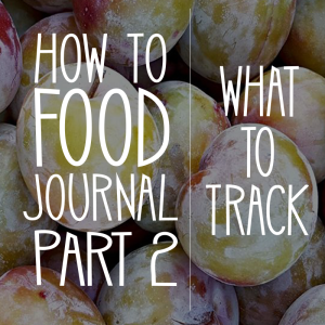 How to Food Journal Series – Part 2: What to Track in a Food Journal