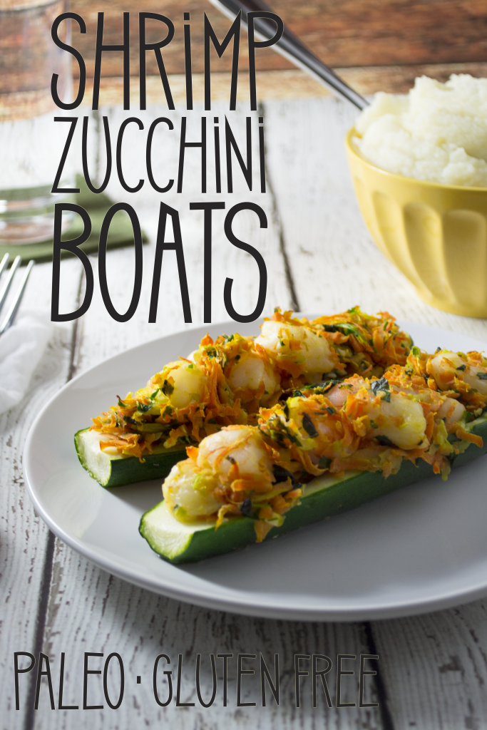 These shrimp stuffed zucchini boats are a great twist on an everyday vegetable. Paleo, gluten free, and whole 30 approved! These are a show stopper! - OCD Kitchen