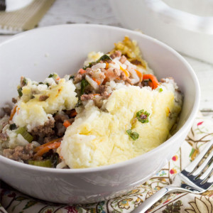 Mashed Cauliflower Shepard's Pie