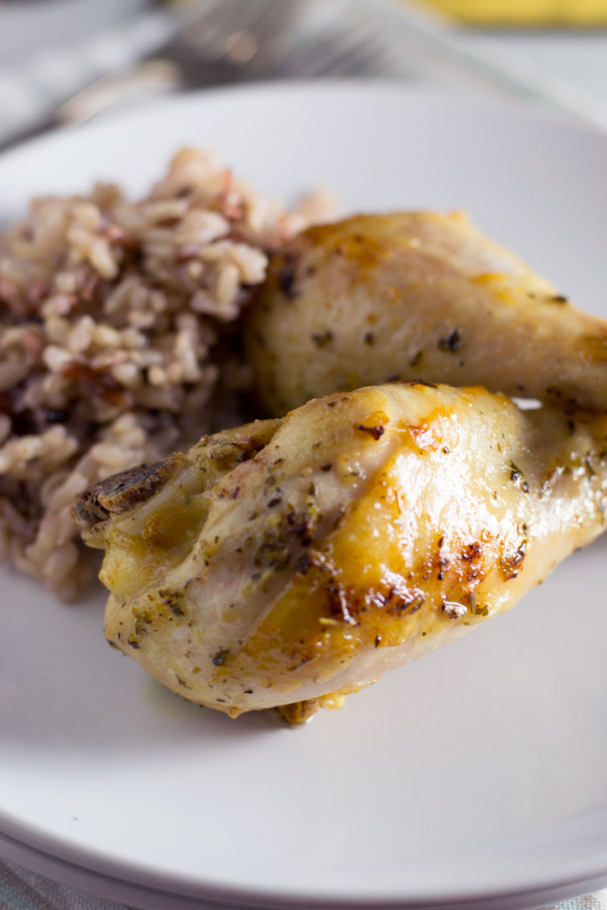 Easy, moist, baked chicken flavored with lemon, garlic, and oregano. - OCD Kitchen