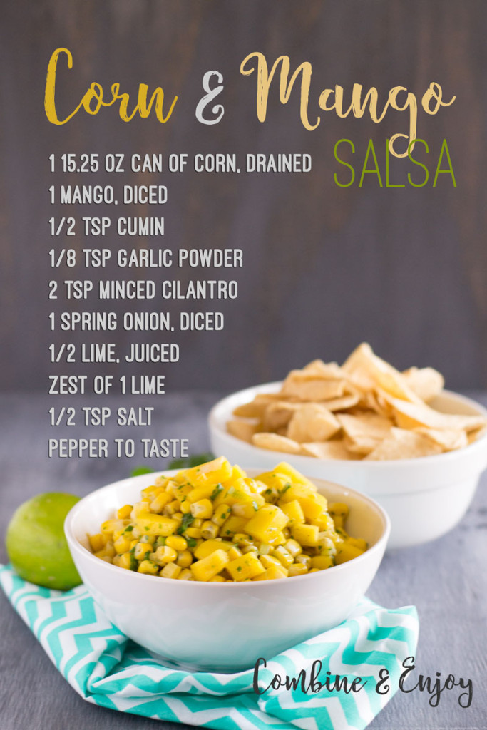 A slightly sweet corn and mango salsa is the perfect way to switch up your game day appetizers! - OCD Kitchen