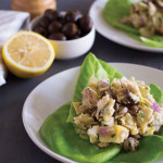 Light and refreshing tuna salad studded with artichoke hearts and olives. - OCD Kitchen